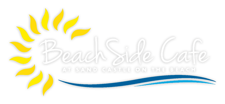 At sand castle on the beach
